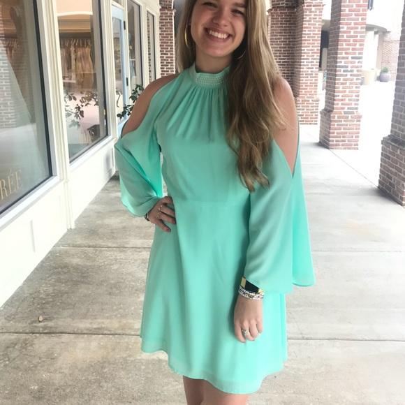 casual mint green dress